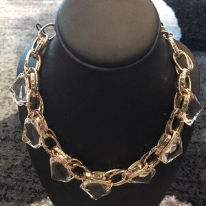 Forever 21 Clear and Gold Necklace